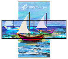 Samsung 4-Display Artistic Wall Package - 500 nits 24/7