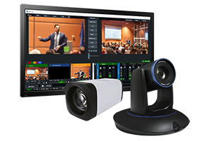 2-Camera StreamIT Live In-house Studio Recording Package w/ 1-Tracking & 1-POV Camera