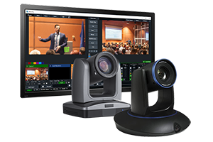 2-Camera StreamIT Live In-house Studio Recording Packages w/ 1-Tracking & 1-PTZ Camera