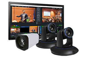 3-Camera StreamIT Live In-house Studio Recording Packages w/ 2-Tracking & 1-POV Camera