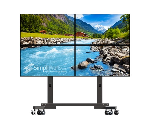 "Samsung 43"" 2 x 2 Mobile Video Wall Package - 700 nits 24/7"