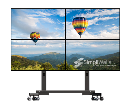 "Samsung 49"" 2 x 2 Mobile Video Wall Package - 700 nits 24/7"