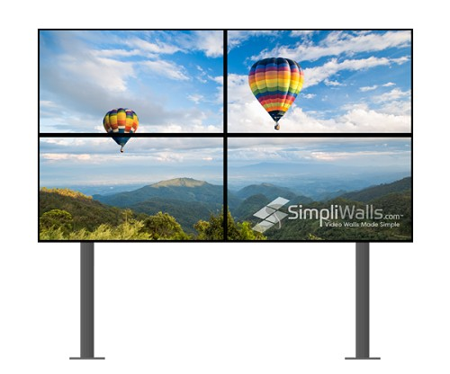 "Samsung 46"" 2 x 2 Floor Extreme Narrow Bezel Video Wall Package - 700 nits 4K 24/7"