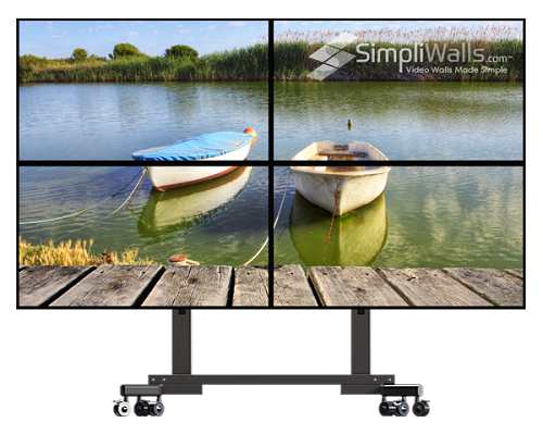 "Samsung 55"" 2 x 2 Mobile Video Wall Package - 500 nits 4K 24/7"