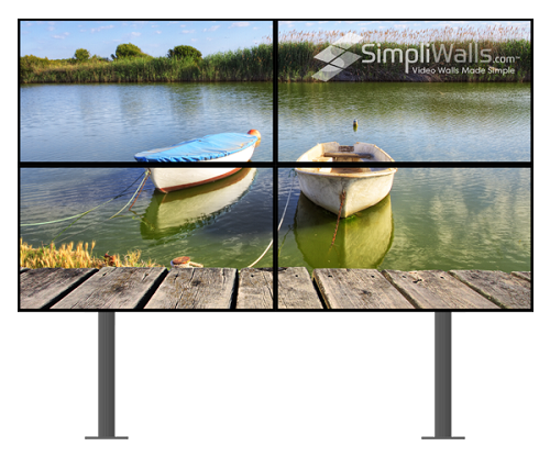 "Samsung 55"" 2 x 2 Floor Video Wall Package - 500 nits 24/7"