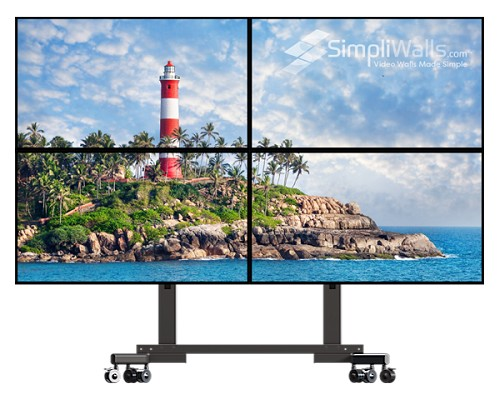 "Samsung 55"" 2 x 2 Mobile Video Wall Package - 700 nits 24/7"