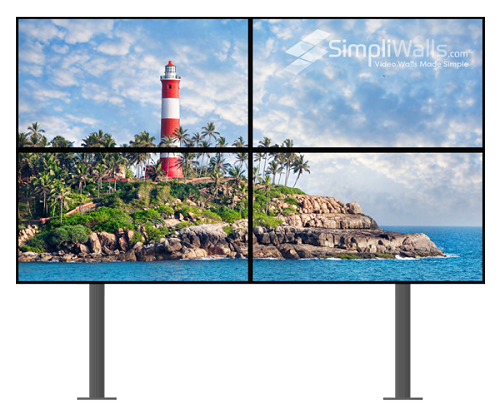 "Samsung 55"" 2 x 2 Floor Extreme Narrow Bezel Video Wall Package - 700 nits 4K 24/7"