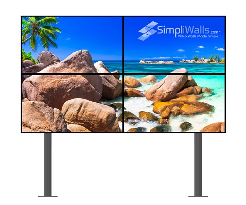 "LG 49"" 2 x 2 Floor Video Wall Package - 700 nits 24/7"