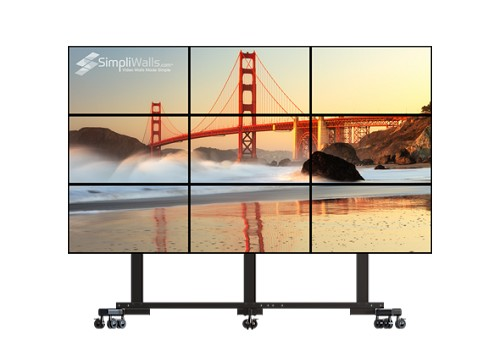 "Samsung 43"" 3 x 3 Mobile Video Wall Package - 500 nits 4K 24/7"