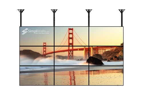 "Samsung 43"" 3 X 3 Ceiling Video Wall Package - 500 nits 24/7"
