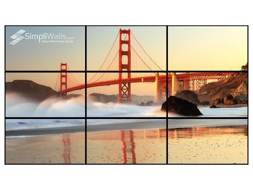 "Samsung 43"" 3 x 3 Video Wall Package - 500 nits 24/7"