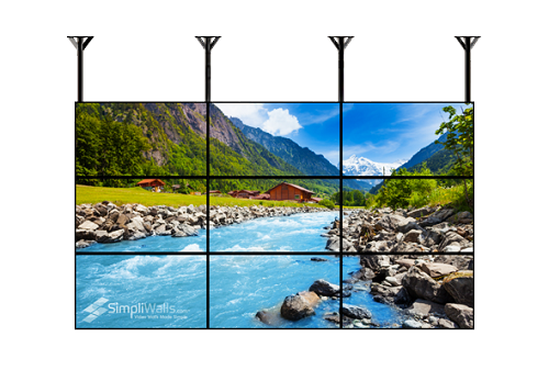"Samsung 43"" 3 X 3 Ceiling Video Wall Package - 700 nits 24/7"