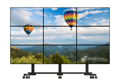 "Samsung 49"" 3 x 3 Mobile Video Wall Package - 700 nits 24/7"