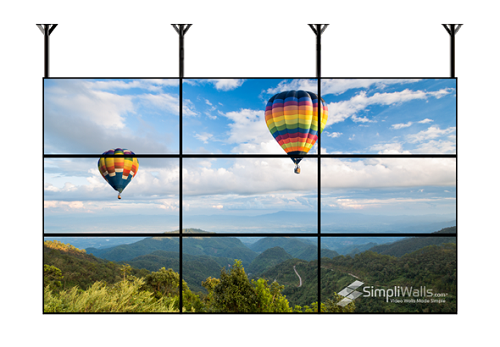 "Samsung 49"" 3 X 3 Ceiling Video Wall Package - 700 nits 24/7"