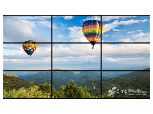 "Samsung 49"" 3 x 3 Video Wall Package - 700 nits 24/7"