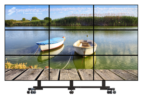 "Samsung 55"" 3 x 3 Mobile Video Wall Package - 500 nits 24/7"