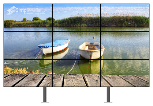 "Samsung 55"" 3 x 3 Floor Video Wall Package - 500 nits 4K 24/7"