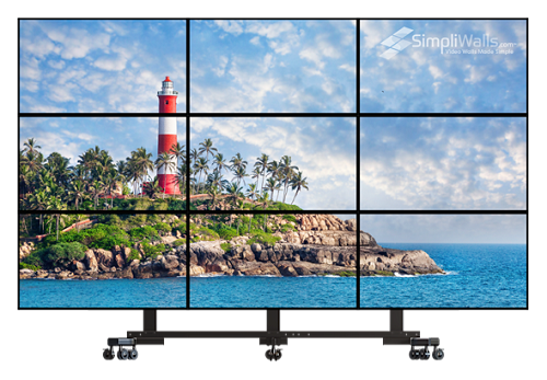 "Samsung 55"" 3 x 3 Mobile Video Wall Package - 700 nits 24/7"