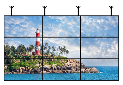 "Samsung 55"" 3 X 3 Ceiling Video Wall Package - 700 nits 24/7"