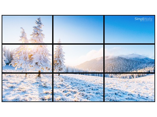 "Viewsonic 98"" 3 x 3 Video Wall Package - 500 nits 24/7"