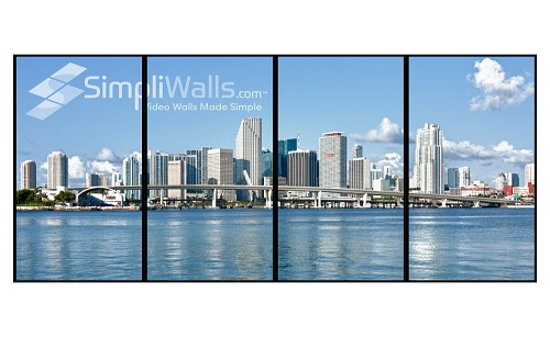 "Samsung 55"" 4 x 1 Portrait Video Wall Package - 700 nits 24/7"
