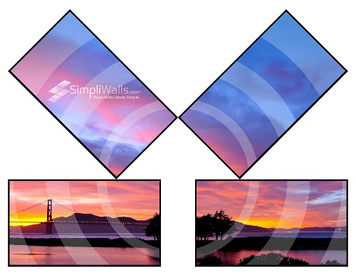 Samsung 4-Display Tilt Artistic Wall Package - 500 nits 4K 24/7