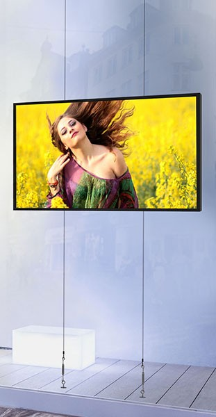 "55"" Samsung Landscape Floor to Ceiling Cable Display Mount 4,000 nits 1080P"